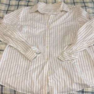 Charter Club Woman Pinstriped Button-Down